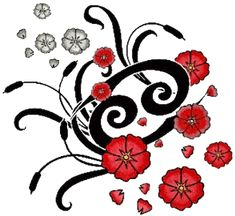 Cancer Zodiac Sign And Red Flowers Tattoo Design Horoscope Tattoos, Zodiac Sign Tattoos, Symbol Tattoos, My Zodiac Sign, Tatoos, Cancer Zodiac Compatibility, Cancer Zodiac Facts, Cancer Astrology, Cancer Quotes