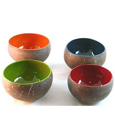 Lacquered coconut bowls - $35
