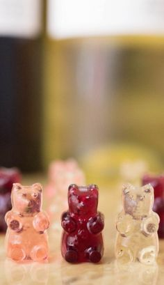 Make red wine, white wine, or rosé gummy bears with this wine gummy bear recipe.