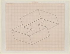 Design on Graph paper  1954  Artist: Josef Albers, American, born Germany, 1888 - 1976 - Yale Art Gallery