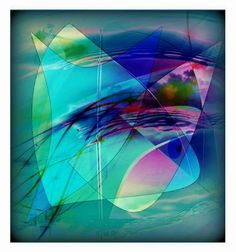 'Harmonie Abstrakt 01' von Gertrude  Scheffler bei artflakes.com als Poster oder Kunstdruck $18.71