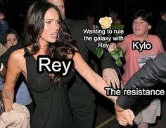THIS SUMMARIZES THE LAST JEDI IN ONE MEME AGHH WHY IS REY NOT ACCEPTING KYLOS LOVE *yet* ° ° ° ° ° ° ° #thelastjedi #kyloren #bensolo #rey…