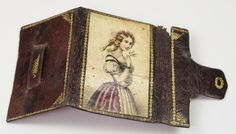 19th Century Leather Sewing Needle Book Needle Case Georgian Circa from trinityantiques on Ruby Lane