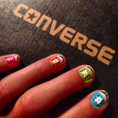 Converse easy nail art my Emi Perez