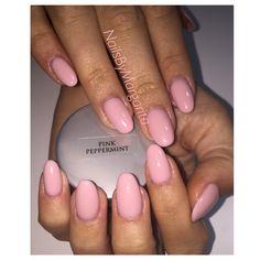 Pale Pink Gel Almond Nails  Nude Mani Fall 2014 @NailsByMargarita