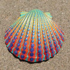 Your place to buy and sell all things handmade Seashell Painting, Seashell Art, Seashell Crafts, Pebble Painting, Dot Painting, Stone Painting, Pebble Art, Sea Crafts, Sea Glass Crafts