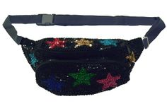 Sequin King  While the middle-school swing choir may hit up Sequin King for their regionals costume, we're browsing the site for fanny packs (yes, they're still a thing) that add a cool-glam factor to our weekend getups.