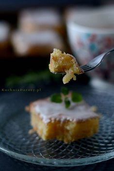 Ciasto Cytrynowe – Pyszne – Kuchnia Doroty Cookie Bars, Muffin, Lemon, Cookies, Breakfast, Recipes, Kitchen, Crack Crackers, Morning Coffee