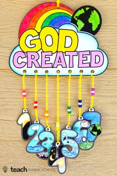 Days of Creation Craft: Mobile Days of Creation Craft for Kids. Templates can be printed from website. Great for Sunday School, Children's Church, VBS, Outreach, etc. Preschool Bible Lessons, Bible Activities For Kids, Bible Crafts For Kids, Bible Lessons For Kids, Creation Preschool Craft, Children Church Lessons, Preschool Church Crafts, Children's Church Crafts, Vbs Crafts