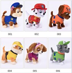 Patrulla Para Caminar Barking cachorro Perro De Peluche Musical Robot Juguete Interactivo Perro de Juguete de perro Mascotas Juguetes de Peluche Para Los Niños de La Batería Eléctrica regalos
