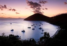 Sunset, White Bay, Jost Van Dyke, British Virgin Islands, Caribbean (© Jon Arnold Images Ltd/Alamy)