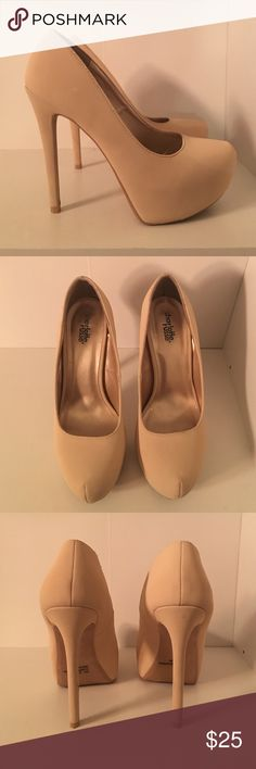 Nude Pumps These nude pumps are from Charlotte Russe! True to size! They style well with everything. Only wore a handful of times! Charlotte Russe Shoes Heels