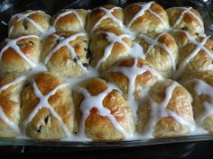 Orange Hot Cross Buns - A German Easter Tradition (at least in my house)