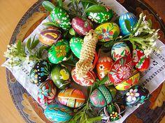 Polish wooden Easter eggs