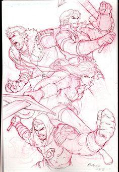 Mikael's Team Red Sketch by Kandoken on DeviantArt