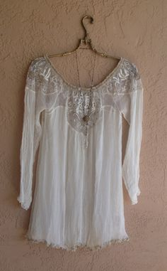 lace and mesh summer boho top