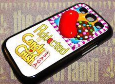 Addicted To Candy Crush For Samsung Galaxy Black Rubber Case Iphone 4, Iphone Cases, Samsung Galaxy S3, Black Rubber, Crushes, Addiction, Candy, Handmade, Hand Made