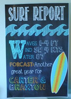 """""""Surfer Boy"""" themed party by Ashleigh Nicole Events 