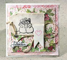 Card xmas Poppydesign VibekeSpigseth LindaBrun Stamping chirstmascard