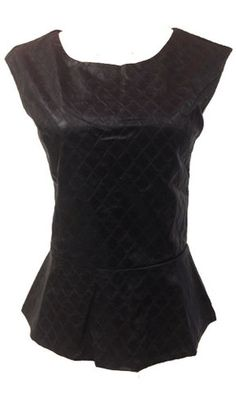 Black Biker Pretty Lady Peplum Top  -Black Shiny Pleather  -Textured  -Two Panel Back Detailing  -Sleeveless  For the adventurous women in you this funky, faux leather peplum top is made to create a tough vixen alter ego. Be bold in black! This also adds a tiny feminine touch with a peplum style, biker meets pretty lady all in one!  $39.00  http://stylebox8.com/collections/new-in-1/products/black-biker-pretty-lady-peplum-top