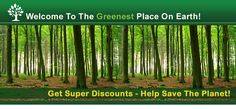 We select offers that are good to you and  for the planet.  Try our offers free and we'll plant a tree in your name..