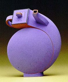 Linda Gunn-Russell - This looks like a tea pot with a goiter, but I still like the sense of humor. Not to mention, the gorgeous color.