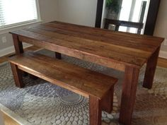 Farm Tables Made From Pallets | Pallet Farm Table and Farm benchs :)