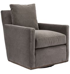 Hale Swivel Club Chair from Rejuvenation is well-made and very compact for a living room chair. I test drove it in the store and love it.  Ordering!