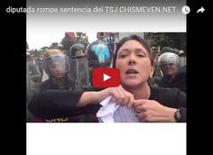 Diputada rompe sentencia del TSJ frente a esbirros armados  http://www.facebook.com/pages/p/584631925064466