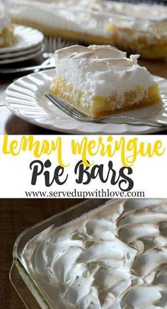 Lemon Meringue Pie Bars recipe from Served Up With Love is everything you love about pie but in a handy dandy bar. www.servedupwithlove.com