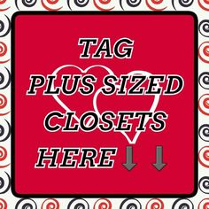 ⬇PLUS SIZE CLOSETS ⬇  If you see  a great plus size closet please tag it here so other lovely curvaceous women can find beautiful clothes that flaunt those curves  Other