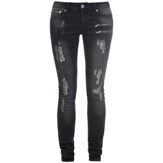 """Stehst du auf den Destroyed Style? Dann solltest du dir unbedingt die Jeans """"Destroyed Skarlett"""" von Black Premium by EMP gönnen. Sie fällt durch ihre Destroyed Effekte und 5-Pocket-Style aus dem Rahmen und gibt dir durch ihren Slim Fit Schnitt eine besonders betonte Figur. #blackpremium #jeans #empstyle #streetstyle"""