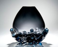 As a designer, I am always on the lookout for craftspeople and artists whose work can add individuality and unique style to a design. I'm delighted to find Hanne Enemark, whose work in glass is both fascinating and beautiful like this smoky 'Cristallized Vase'
