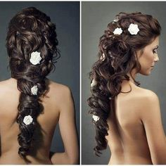 If Rapunzel had her long hair for her wedding.