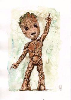 Baby Groot by fsgu