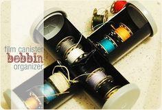 tutorial: how to make a film canister bobbin organizer