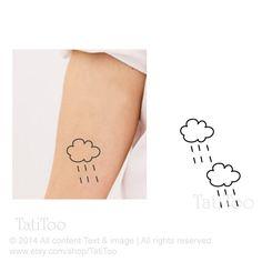 Raining cloud temporary tatoo  Temporary Tattoo T066 by TatiToo, $3.99
