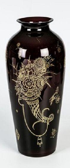 Bruno Mauder (German, 1877–1948) Title:     Seltene Vase  Medium:     glass Size:     41 cm.