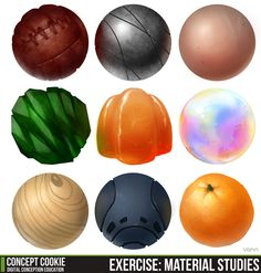 Material Study Exercise Results by *ConceptCookie on deviantART