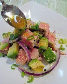 Tuna Steak Avocado Salad