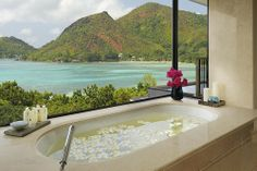 To da loos: Tantalizing tropical tub with a view