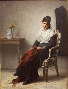 Dreamer, 1880 by Henri Bouchet-Doumenq (French, 1834-1884):