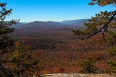 The Southerly View from Pilot Rock in Pisgah National Forest. The valley below is the Cradle of Forestry National Historical Site.