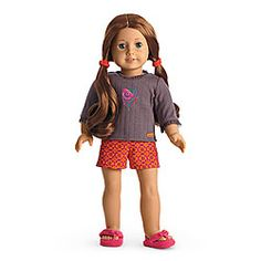 American Girl® Clothing: Saiges Pajamas for Doll.  Saige Copeland's pajamas are too cute.