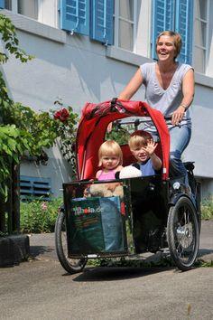 Family - bezpečná a lehká nákladní kolo pro rodiny s dětmi