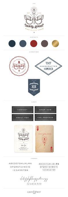 Brand Reveal // King Queen Knave // Grit & Wit #branding #gritandwitdesign #design