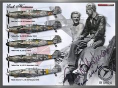 Erich Bubi Hartmann's liveries. Goodness I'd kill for this, autographed by Herr Hartmann and Herr Martens!