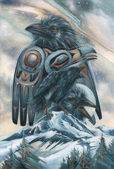 """Spirit Of The Mountain"" New Raven art by Jody Bergsma"