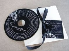 """A Cd with the """"greatest hits"""" of your relationship for wedding favors <3"""