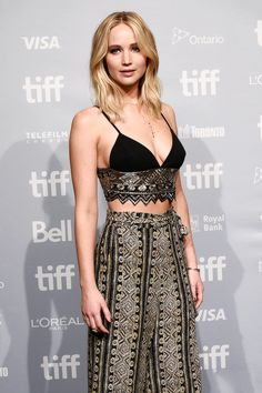 Jennifer Lawrence attends the 'mother!' press conference during the 2017 Toronto International Film Festival on September 10, 2017 in Toronto, Canada.